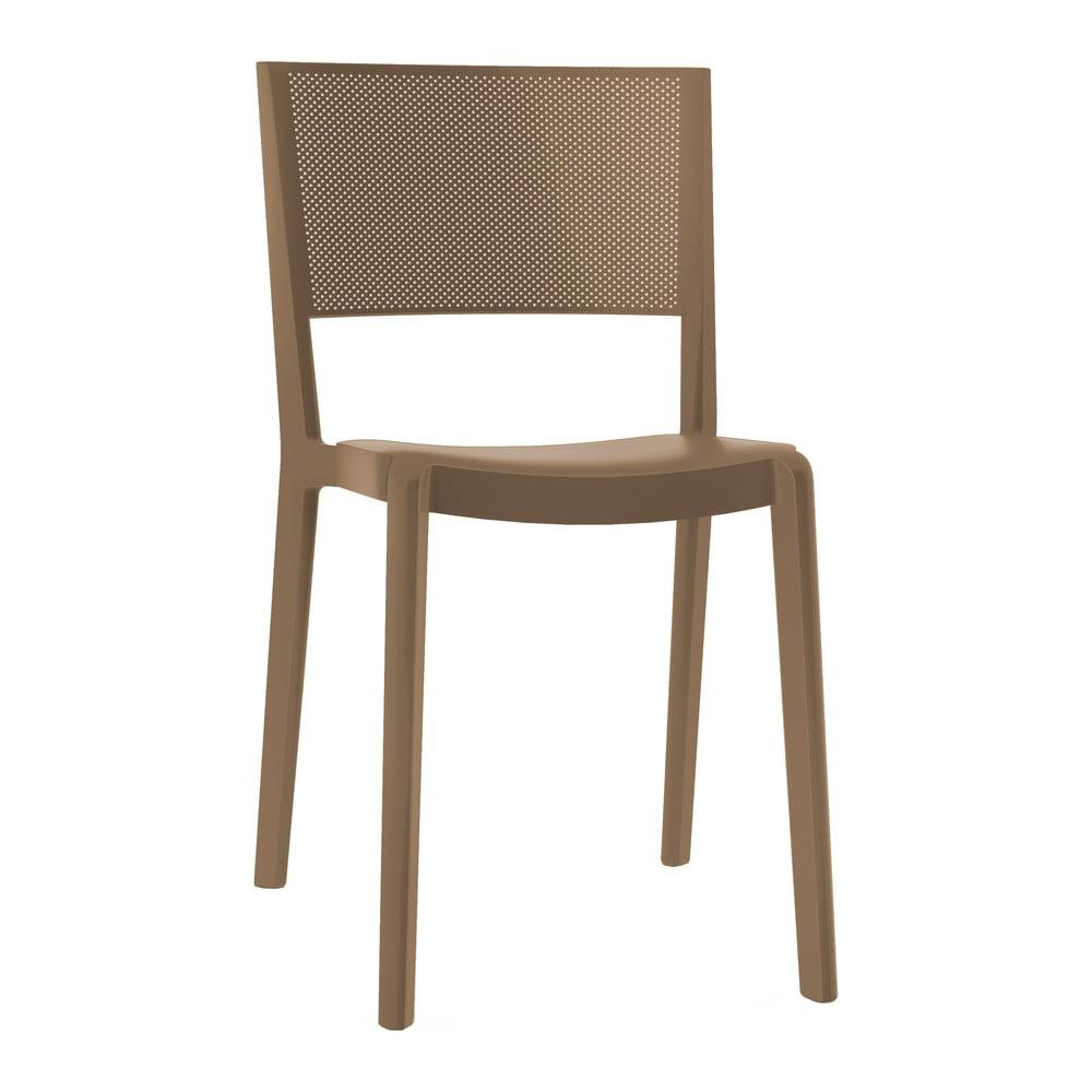 Zestaw 2 ciemnobrązowych krzeseł ogrodowych Resol Spot