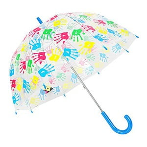 Dziecięcy parasol przezroczysty z niebierską rączką Hands Up