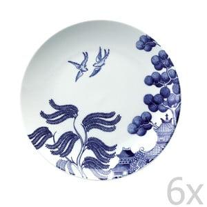 Zestaw 6 porcelanowych talerzy Willow Love Story, 21 cm