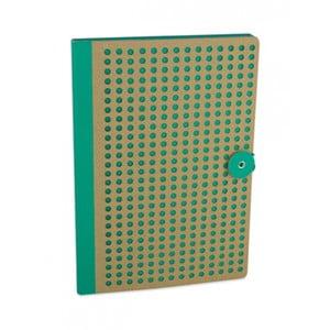 Zielony   notatnik B5 Portico Designs Laser