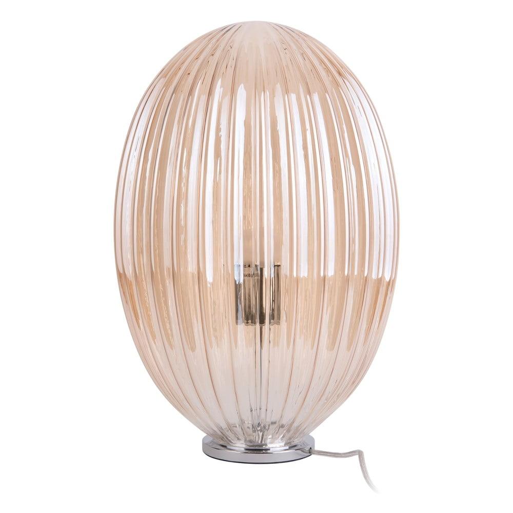 Brązowa szklana lampa stołowa Leitmotiv Smart,ø30cm