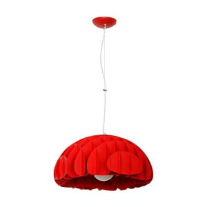 Czerwona lampa wisząca Glimte Overhung Mak Red