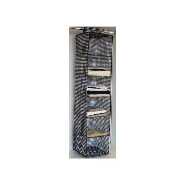 Materiałowy organizer wiszący do szafy z 6 przegródkami Compactor Sweater Rack