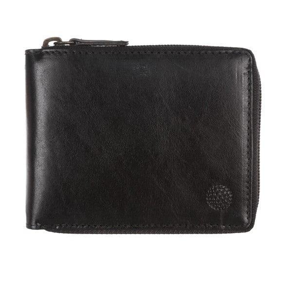 Męski portfel skórzany Kingsbury' Black/Chestnut Zip-Round Wallet