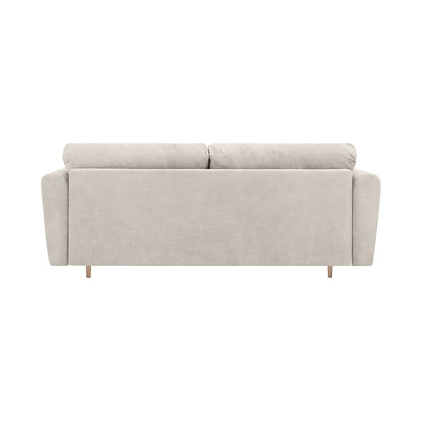 Jasnoszara 3-osobowa sofa rozkładana ze schowkiem Cosmopolitan Design Grenoble