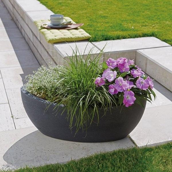 Donica ogrodowa Globe 58x23 cm, czarna