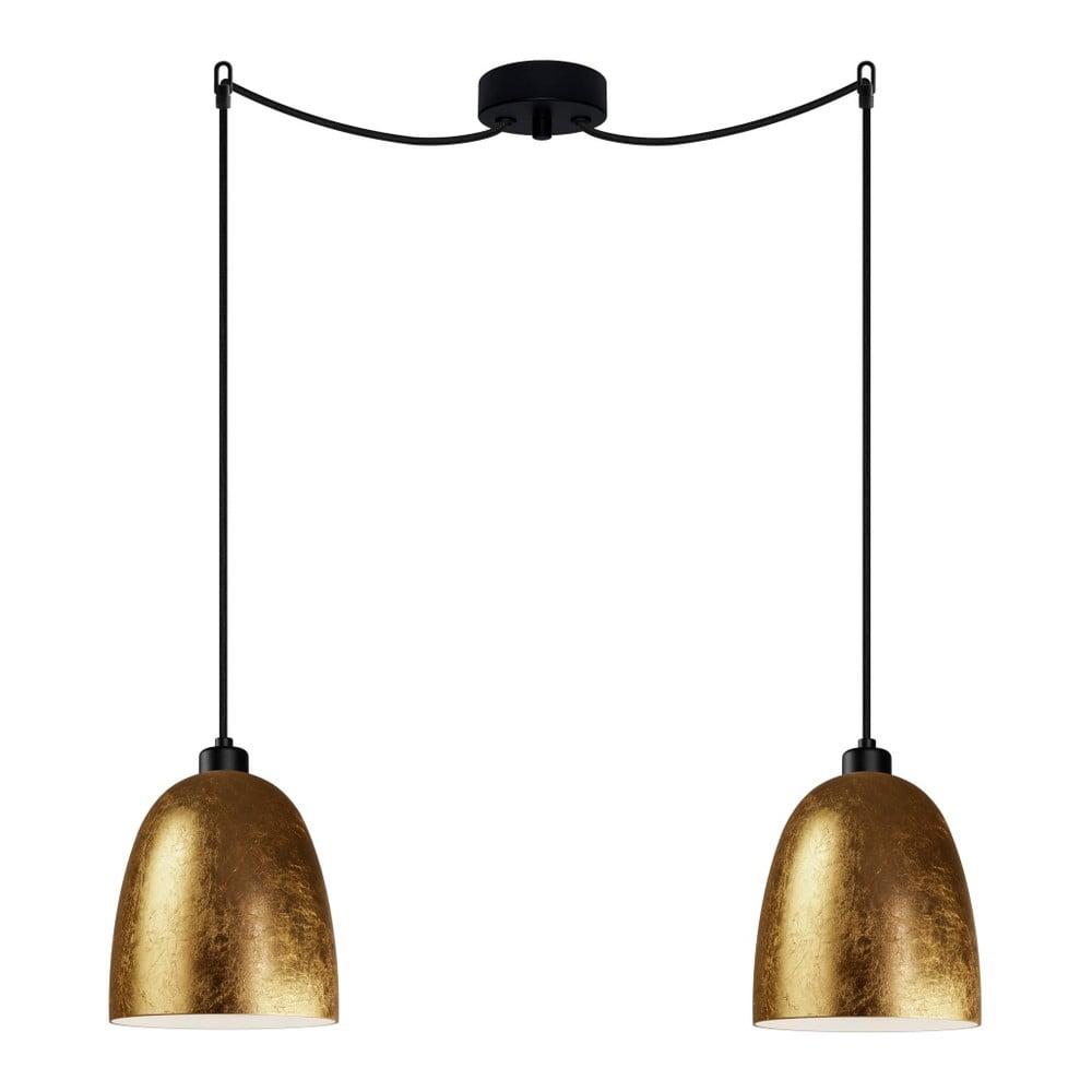 Złoto-czarna podwójna lampa wisząca Sotto Luce AWA Elementary 2S