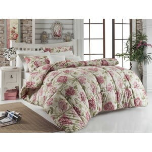 Pikowana narzuta na łóżko dwuosobowe Care Pink, 195x215 cm