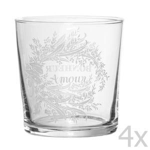Zestaw 4 szklanek Amour, 500 ml