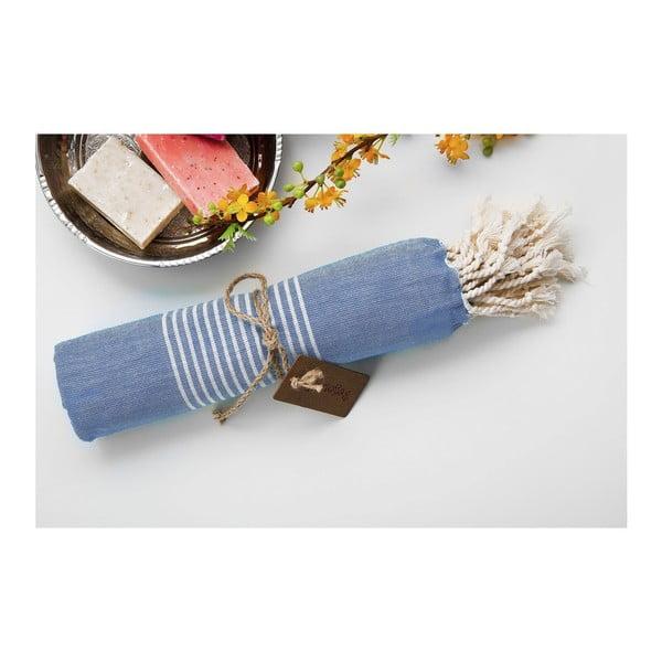 Ręcznik hammam Line Blue, 100x180 cm