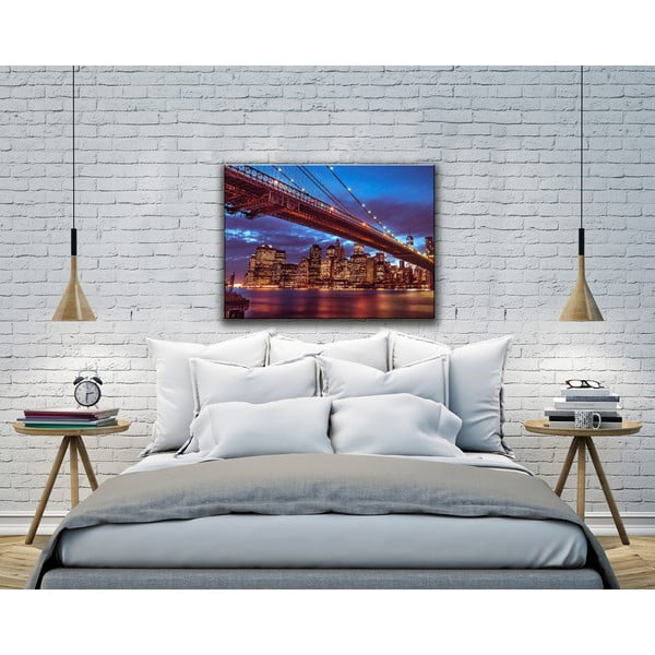 Obraz Brooklyn Bridge at Night, 80x115 cm