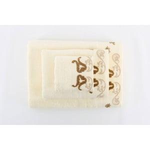 Zestaw 3 ręczników Lale Cream