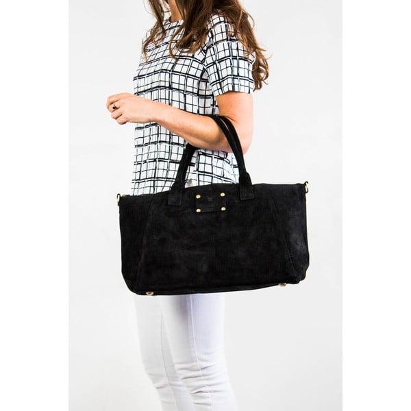 Skórzana torebka Fly Violet Midi Black