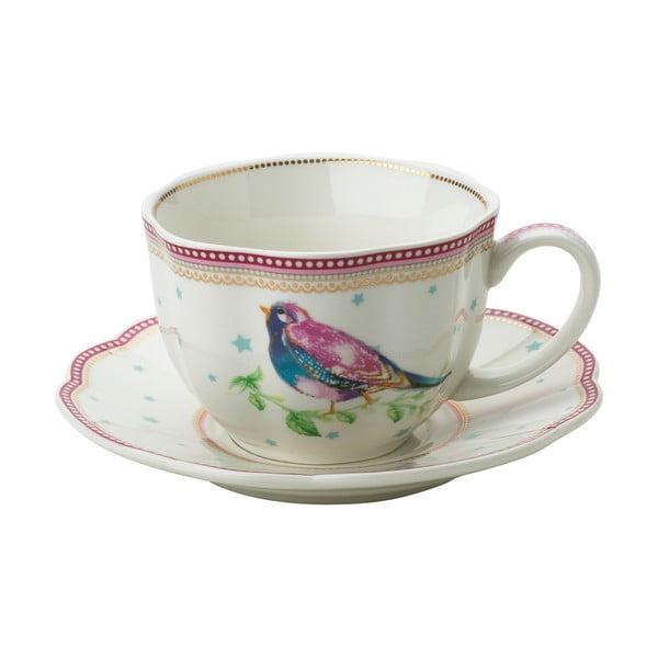 Porcelanowa filiżanka ze spodkiem Birdie Lisbeth Dahl, 2 szt.