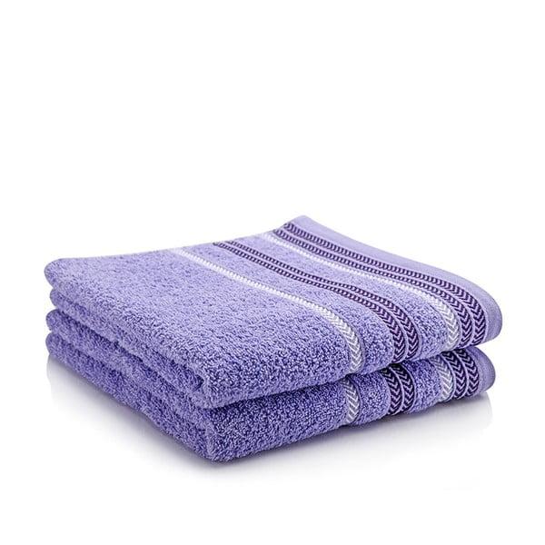 Komplet 2 ręczników Hugo Lavender, 70x140 cm