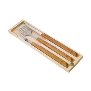 3-częściowy zestaw Barbeque w drewnianym pudełku