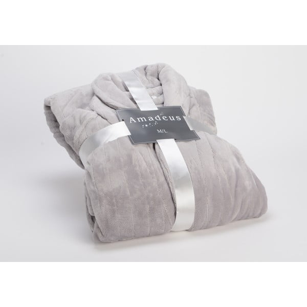 Szlafrok Coccon Stripe Light Grey, M/L