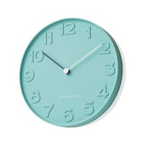 Niebieski zegar ścienny Numbers