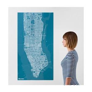 Niebieska mapa ścienna Palomar Pin Nowy Jork