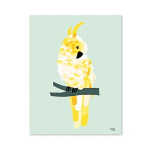 Plakat Michelle Carlslund Yellow Cockatoo, 30x40 cm