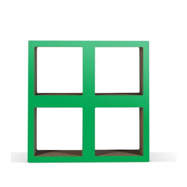 Kartonowa biblioteczka Bit Square Green