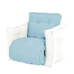 Jasnoniebieski dziecięcy fotel rozkładany Mini Dice