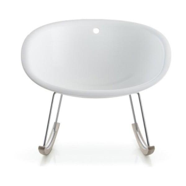 Białe krzesło bujane Pedrali Gliss 350