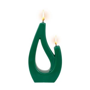 Zielona świeca Alusi Saba Petit, 6 h