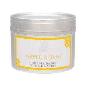 Świeczka zapachowa Spring Couture  20 godzin palenia, aromat bursztynu i róży