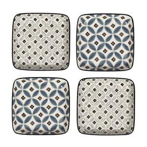 Zestaw 4 porcelanowych talerzy Old Floor, 12.5 cm
