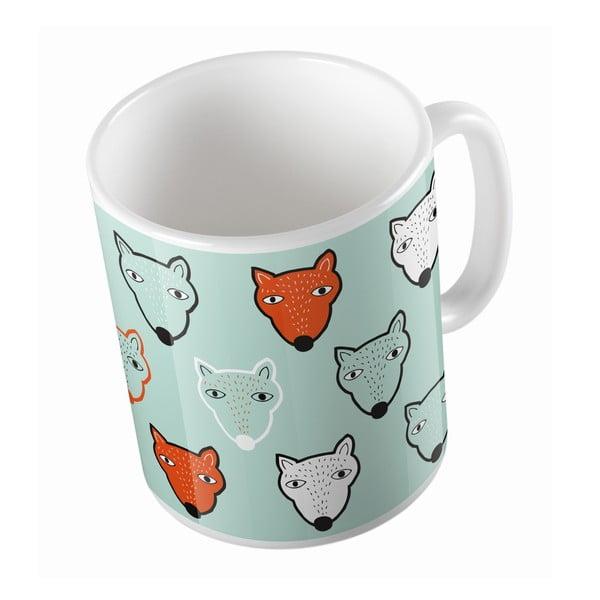 Ceramiczny kubek Fox Faces, 330 ml