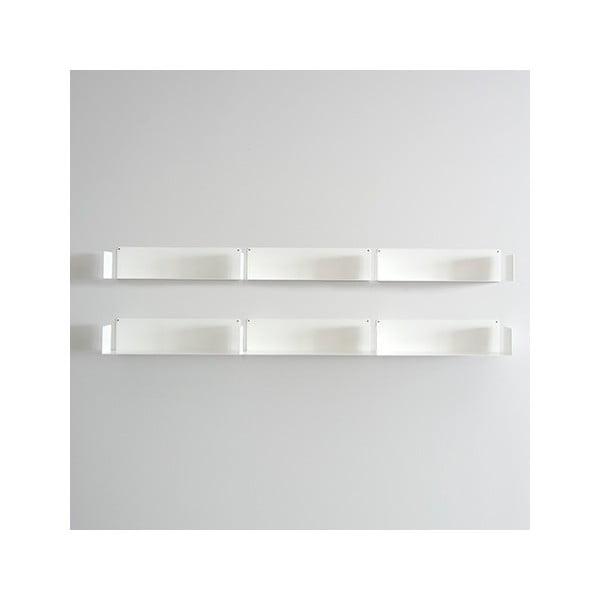 Niewidzialne półki Linéaire U, białe, 6 sztuk