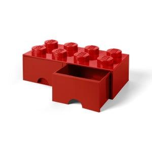 Czerwony pojemnik z 2 szufladami LEGO®
