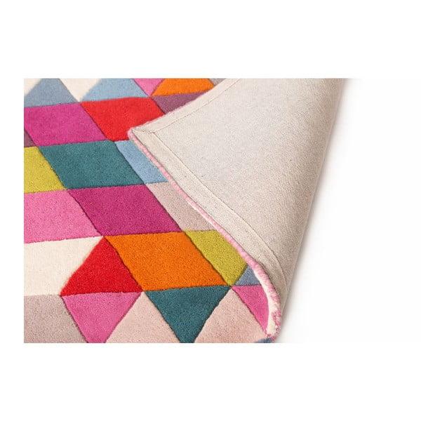 Różowy dywan wełniany Flair Rugs Prism, 80x150 cm