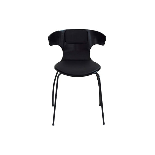 Zestaw 4 czarnych krzeseł RGE Cobra