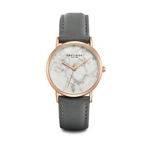 Zegarek damski z szarym skórzanym paskiem i cyferblatem w kolorze różowego złota Eastside Rosevelt