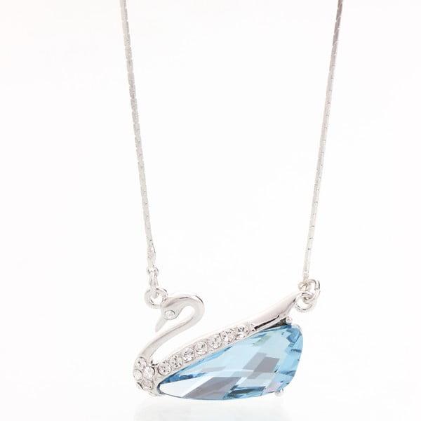 Naszyjnik ze Swarovski Elements, niebieski łabądź