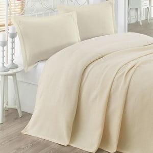Narzuta na łóżko dwuosobowe Petek Cream, 200x230 cm