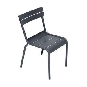 Antracytowe krzesło dziecięce Fermob Luxembourg