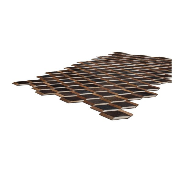 Dywan skórzany Revolution Brown, 116x174 cm
