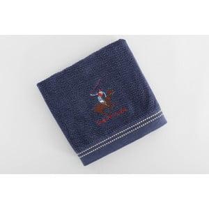 Ręcznik bawełniany BHPC s výšivkou 50x100 cm, granatowy