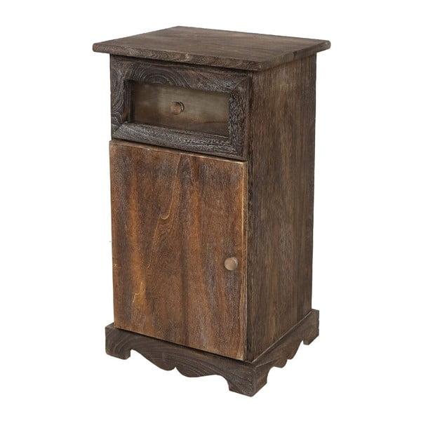Brązowa szafka Mendler Shabby, 63x34x29 cm