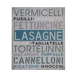 Drewniany obraz Lasagne, 25x30 cm