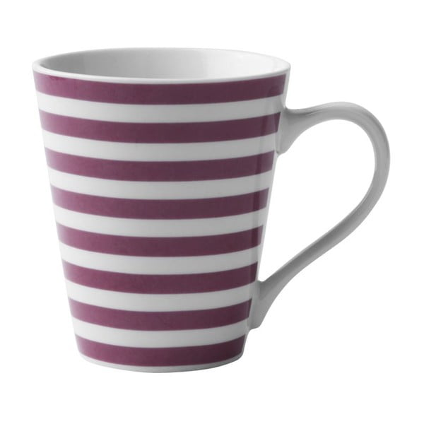 Porcelanowy kubek Purple Striped