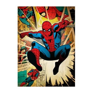 Plakat z blachy Marvel Silver Age - Spiderman