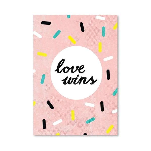 Plakat Love Wins, 30x42 cm