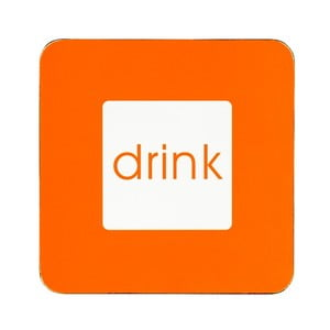 Zestaw 4 podstawek Drink Orange