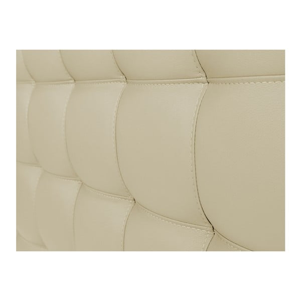 Kremowy zagłówek łóżka Windsor & Co Sofas Deimos, 140x120 cm
