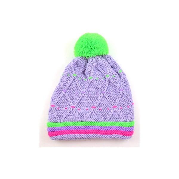 Czapka dziewczęca Neon Light Purple