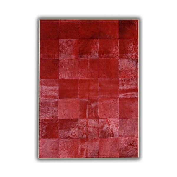 Dywan skórzany Plain Red, 140x200 cm